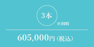 3本※同時 605,000円(税込)